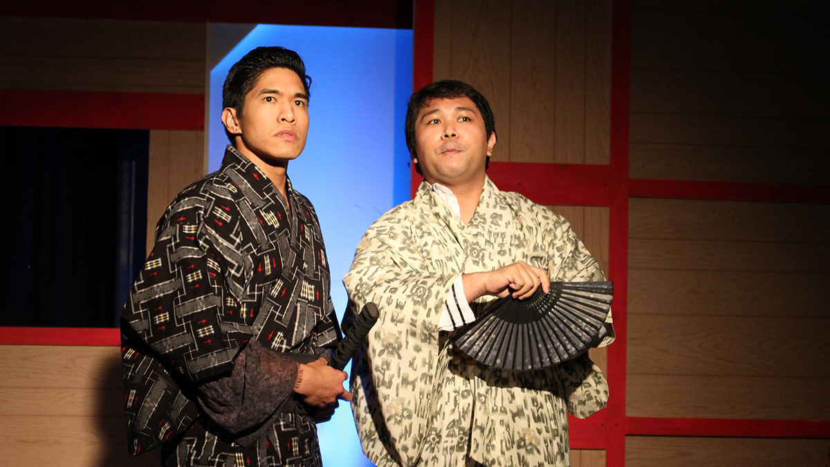 Cesar Cipriano and Daryl Leonardo in Chromulume's 2017 production of Stephen Sondheim's 'Pacific Overtures'