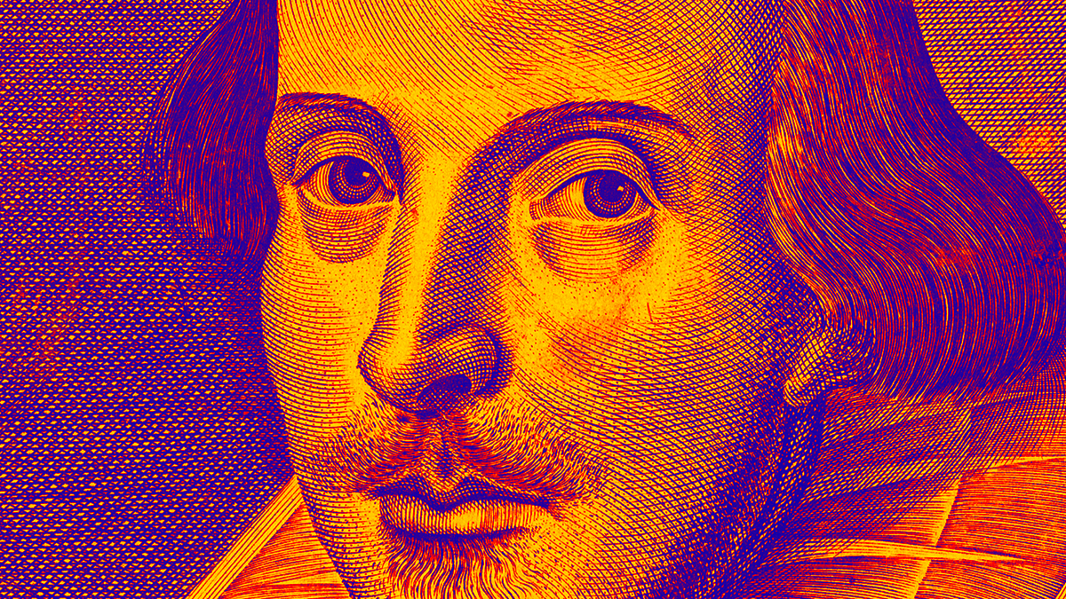 A portrait of William Shakespeare as part of our observance of the 400th Anniversary of the Bard's passing.