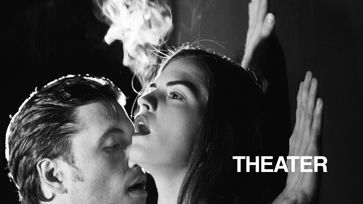 Patrick Stafford and Emily James in Smoke by Kim Davies at Rogue Machine Theatre in June 2016.