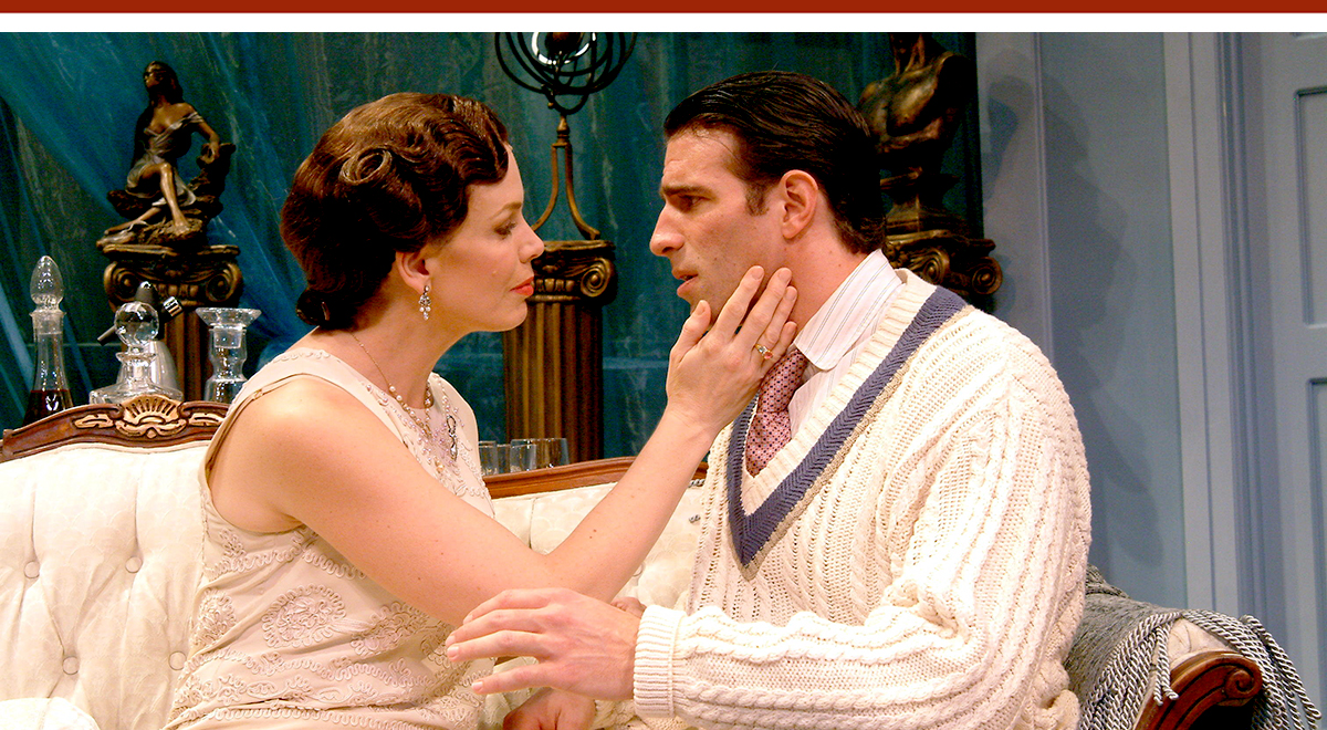 Megan Gallagher, Kaleo Griffith in 'The Constant Wife' at Pasadena Playhouse, photo by Craig Schwartz