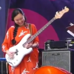 Linda May Han Oh performs at the 2018 Atlanta Jazz Festival