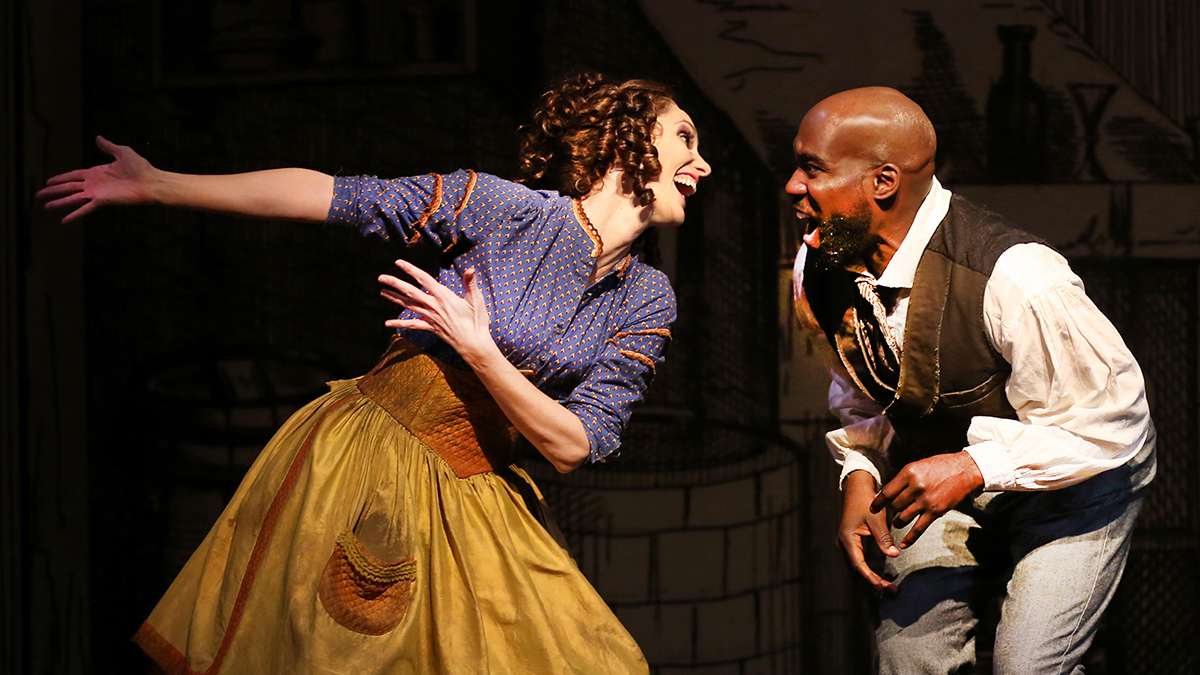 Jamey Hood and David St. Louis in SCR's 'Sweeney Todd,' photo by Jordan Kubat