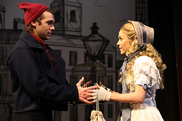 Devin Archer and Juliana Hansen in SCR's 2019 production of 'Sweeney Todd'