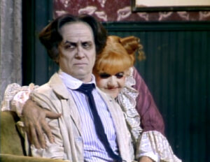 "George Hearn and Angela Lansbury in ""Sweeney Todd,"" circa 1989"