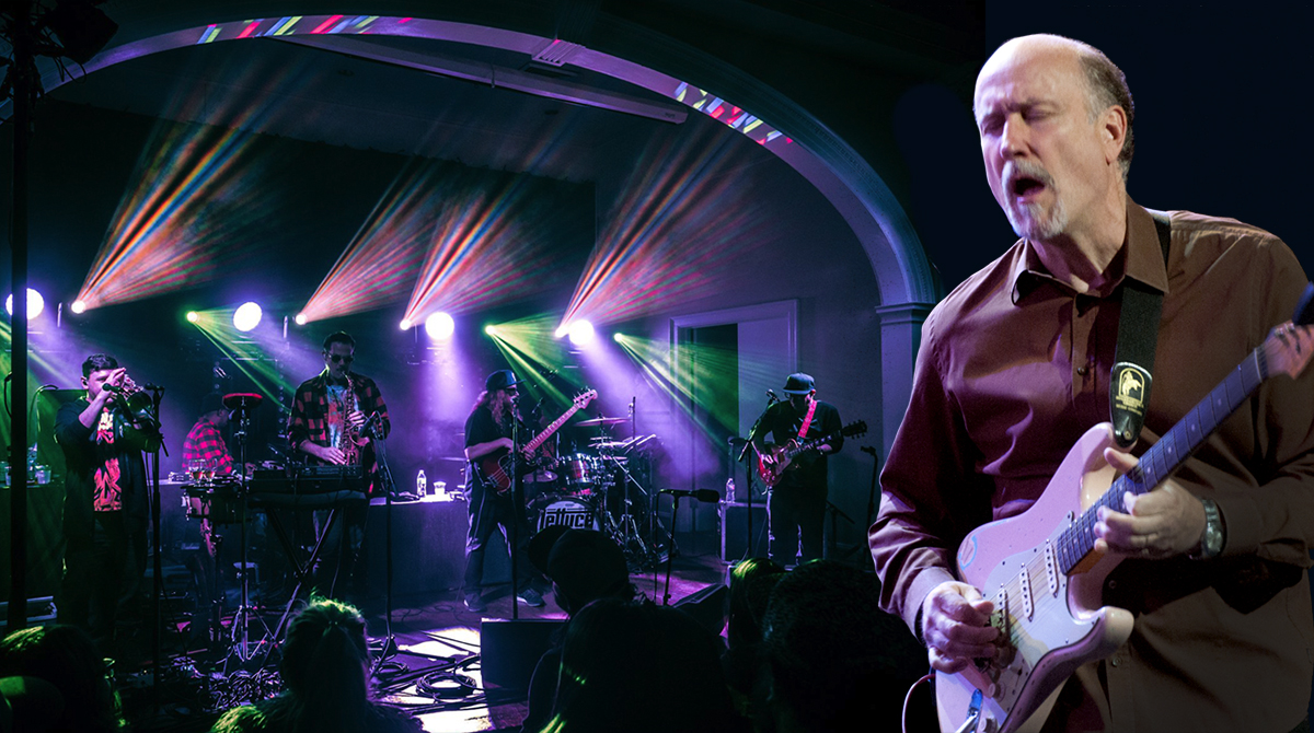 The funk band Lettuce and John Scofield (right) come to L.A.'s Theater at the Ace Hotel on March 20, 2019