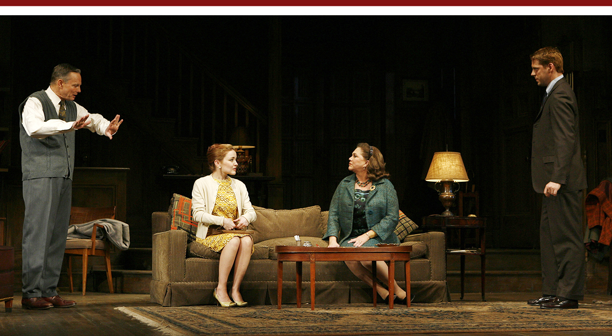 Bill Irwin, Katleen Early, Kathleen Turner, David Furr in 'Who's Afraid of Virginia Woolf' at the Ahmanson Theatre , photo by Carol Rosegg
