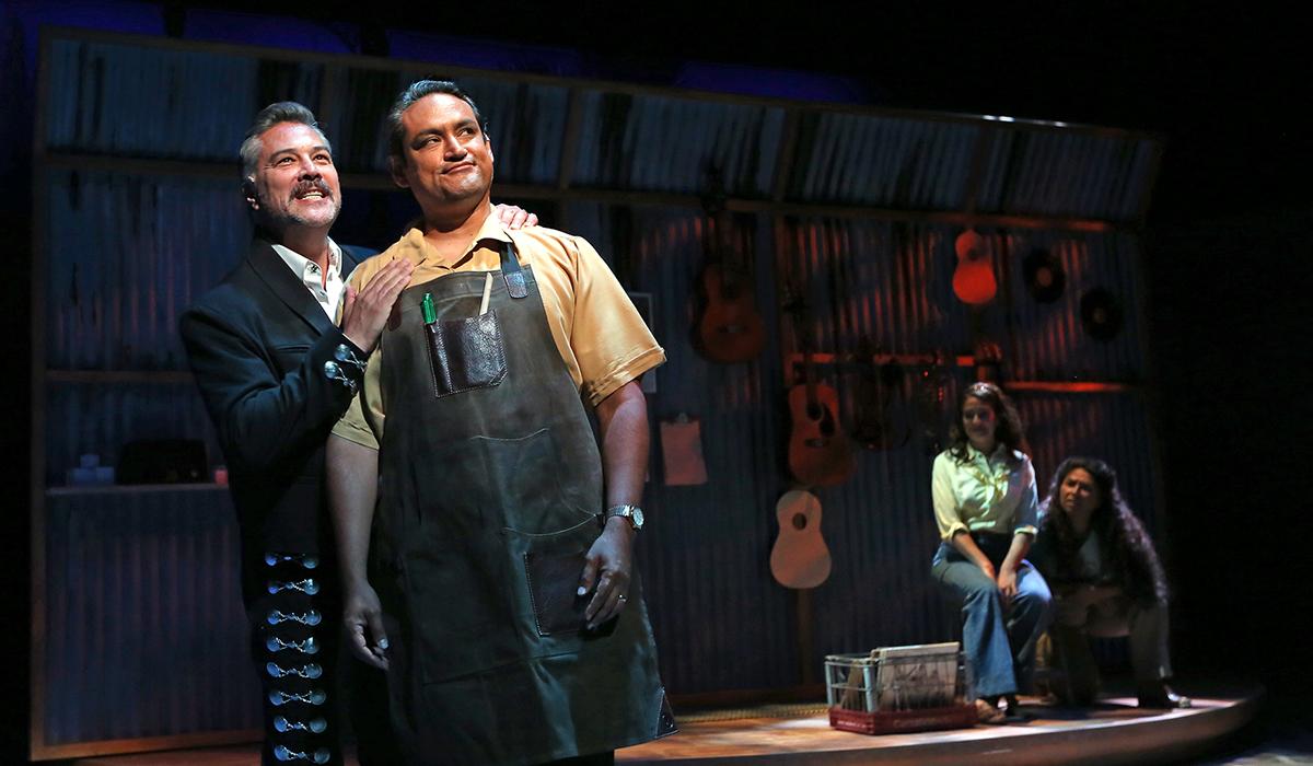 Mauricio Mendoza, Sol Castillo, Gabriela Carrillo and Satya Jnan in American Mariachi at South Coast Repertory, September 2019