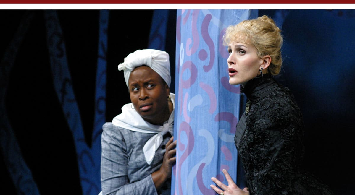 Kimberly Scott and Susannah Schulman in The Further Adventures of Hedda Gabler