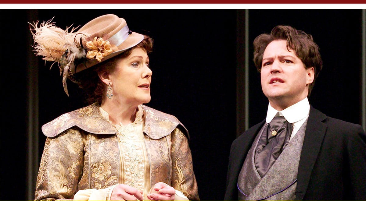 Lynn Redgrave and Robert Petkoff in The Importance of Being Earnest at the Ahmanson Theatre