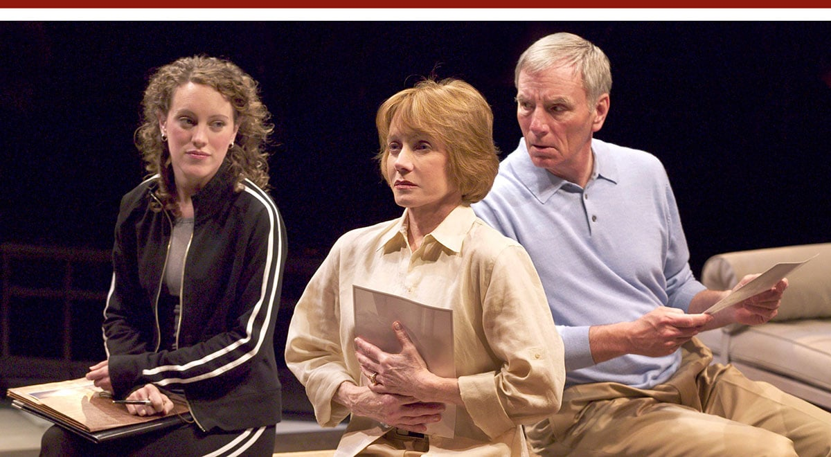 Samantha Soule, Sandy Duncan and Ned Schmidtke in 'Body of Water' at The Old Globe. Photo by Craig Schwartz