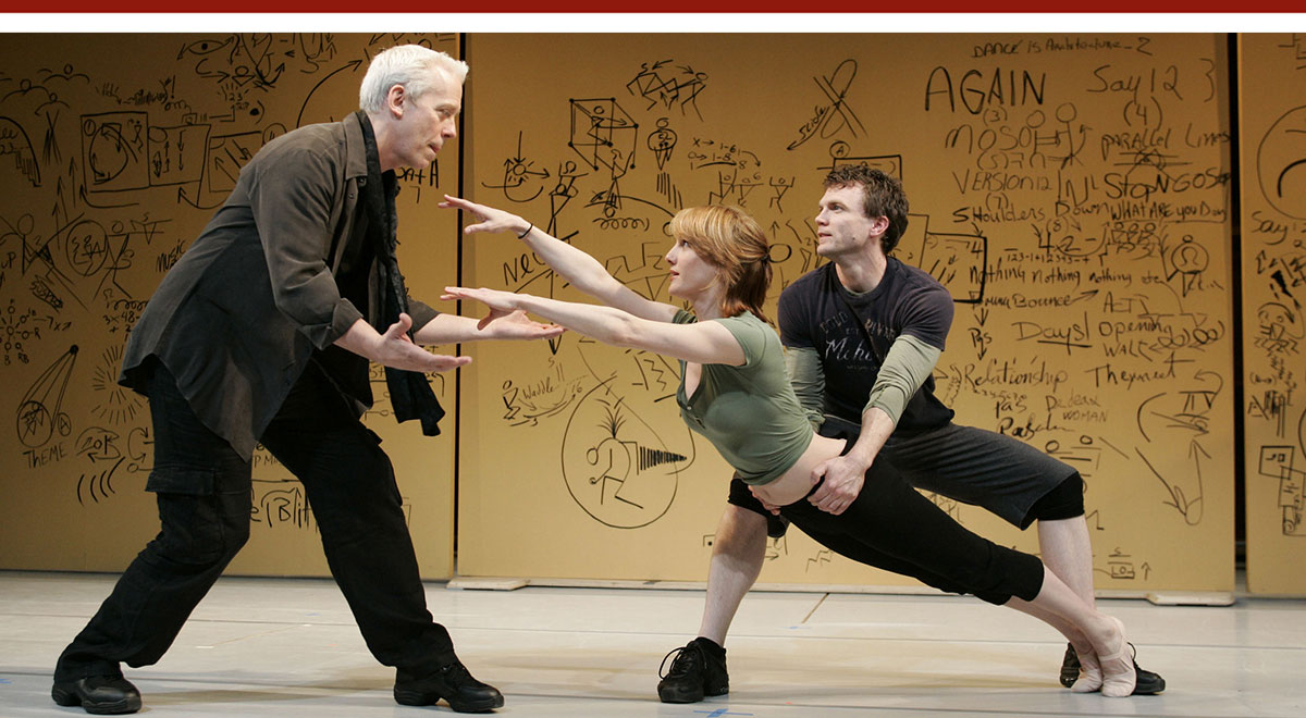 Terrence Mann, Nancy Lemenager and John Todd in 'The Studio' at South Coast Repertory. Photo by Ken Howard