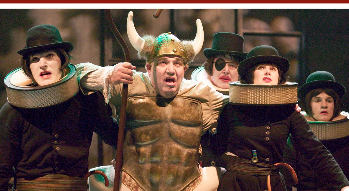 Alan Blumenthal with ensemble members in 'Ubu Roi' at A Noise Within. Photo by Craig Schwartz