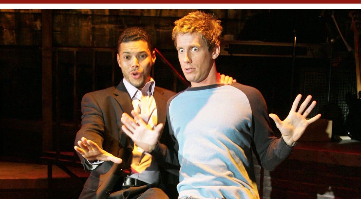 Wilson Cruz and Andrew Samonsky in Jonathan Larson's 'Tick Tick Boom' at the Coronet