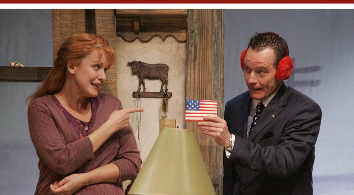 Sarah Knowlton and Bryan Cranston in Sam Shepard's God of Hell at the Geffen Playhouse. Photo by Michael Lamont