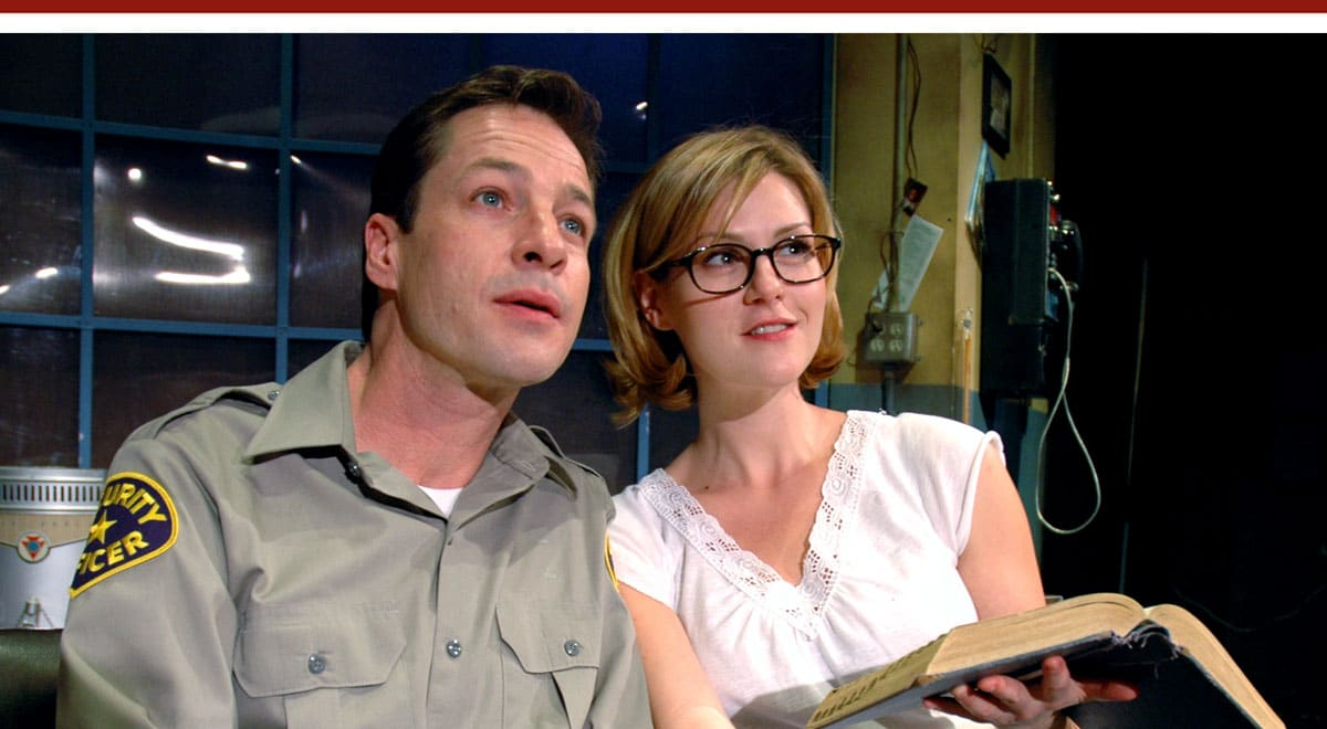 French Stewart and Sara Rue in Little Egypt at the Matrix Theatre, June 2006. Photo by I.C. Rapoport