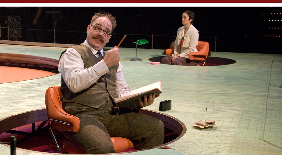 Richard Crawford and Diana Ruppe in Daniel Aukin's revival of 'The Adding Machine' at the La Jolla Playhouse. Photo by J.T. MacMillan