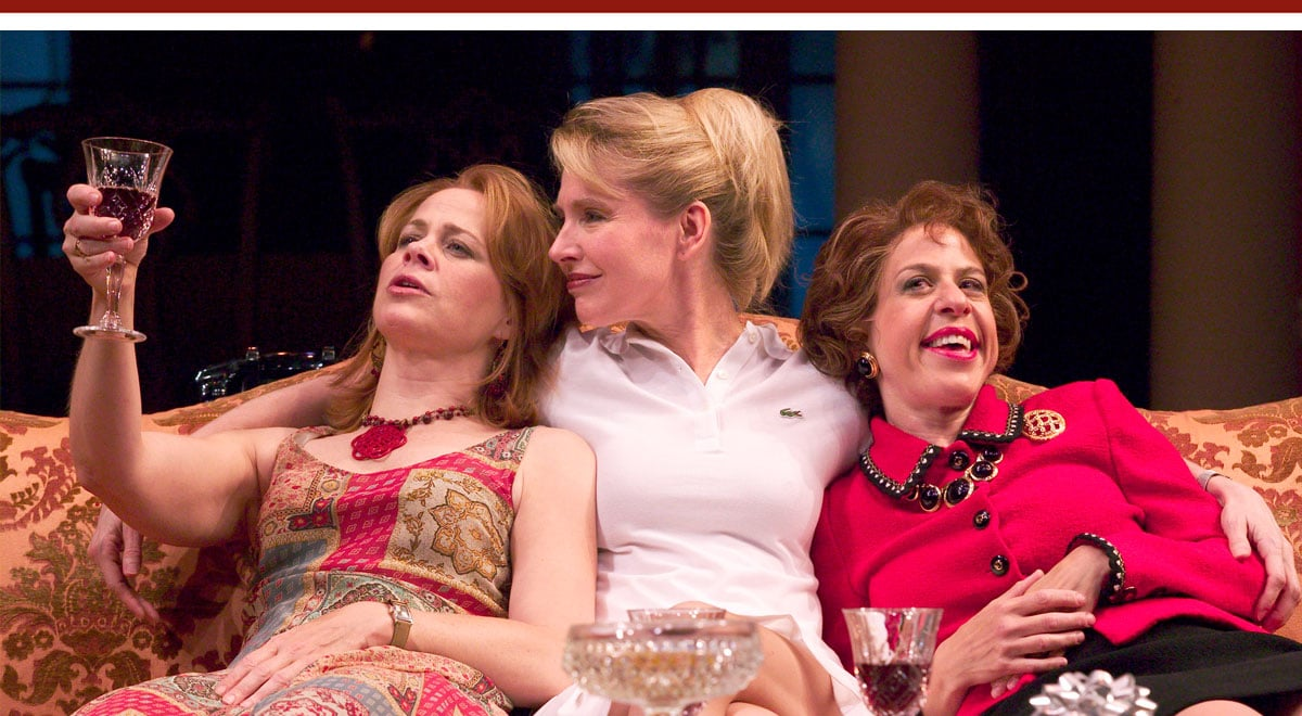 Deirdre Lovejoy, Janet Zarish, Jackie Hoffman in the Sisters Rosensweig at The Old Globe, Photo by Craig Schwartz