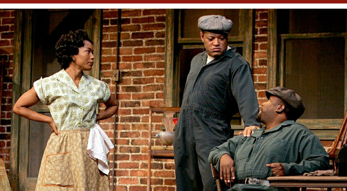 Angela Bassett, Laurence Fishburne, and Wendell Pierce in 'Fences' at the Pasadena Playhouse